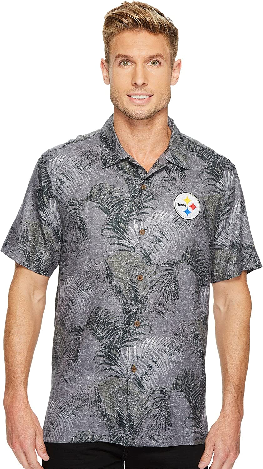 4ca1d190 Tommy Bahama Men's Pittsburgh Steelers NFL Fez Rounds Shirt Steelers Large:  Amazon.ca: Clothing & Accessories