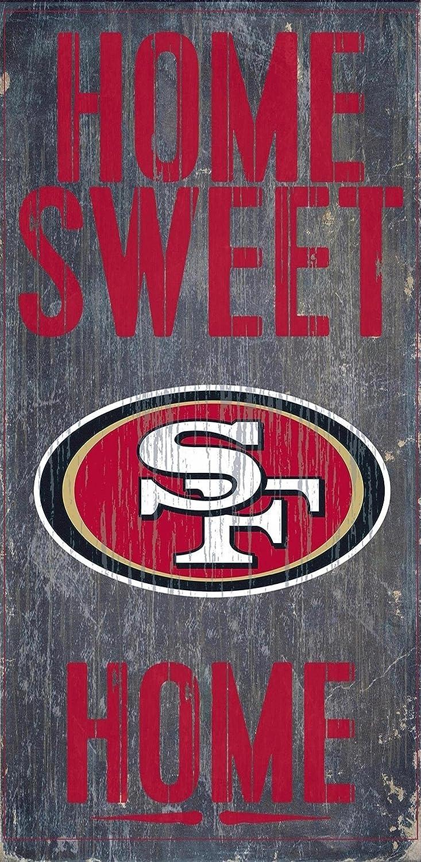 "Fan Creations - San Francisco 49ers Wood Sign - Home Sweet Home 6""x12"""