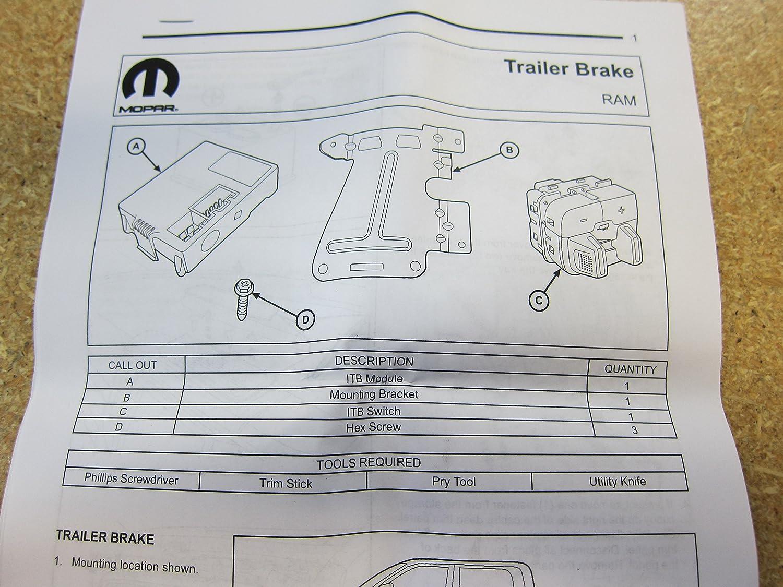 amazon com: dodge ram integrated trailer brake controller module factory  mopar oem: automotive