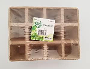 Momentum Brand Garden Ease Peat Pot Seed Tray Starter Plant X4 (12)