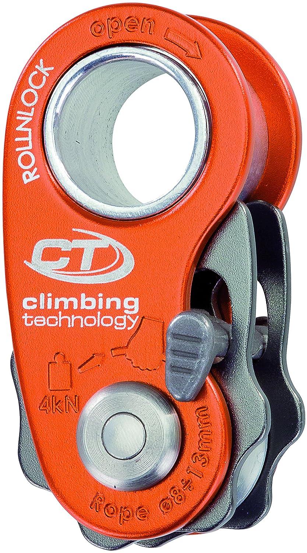 Climbing Technology Rollnlock Carrucola Bloccante Ultraleggera, Rosso Aludesign