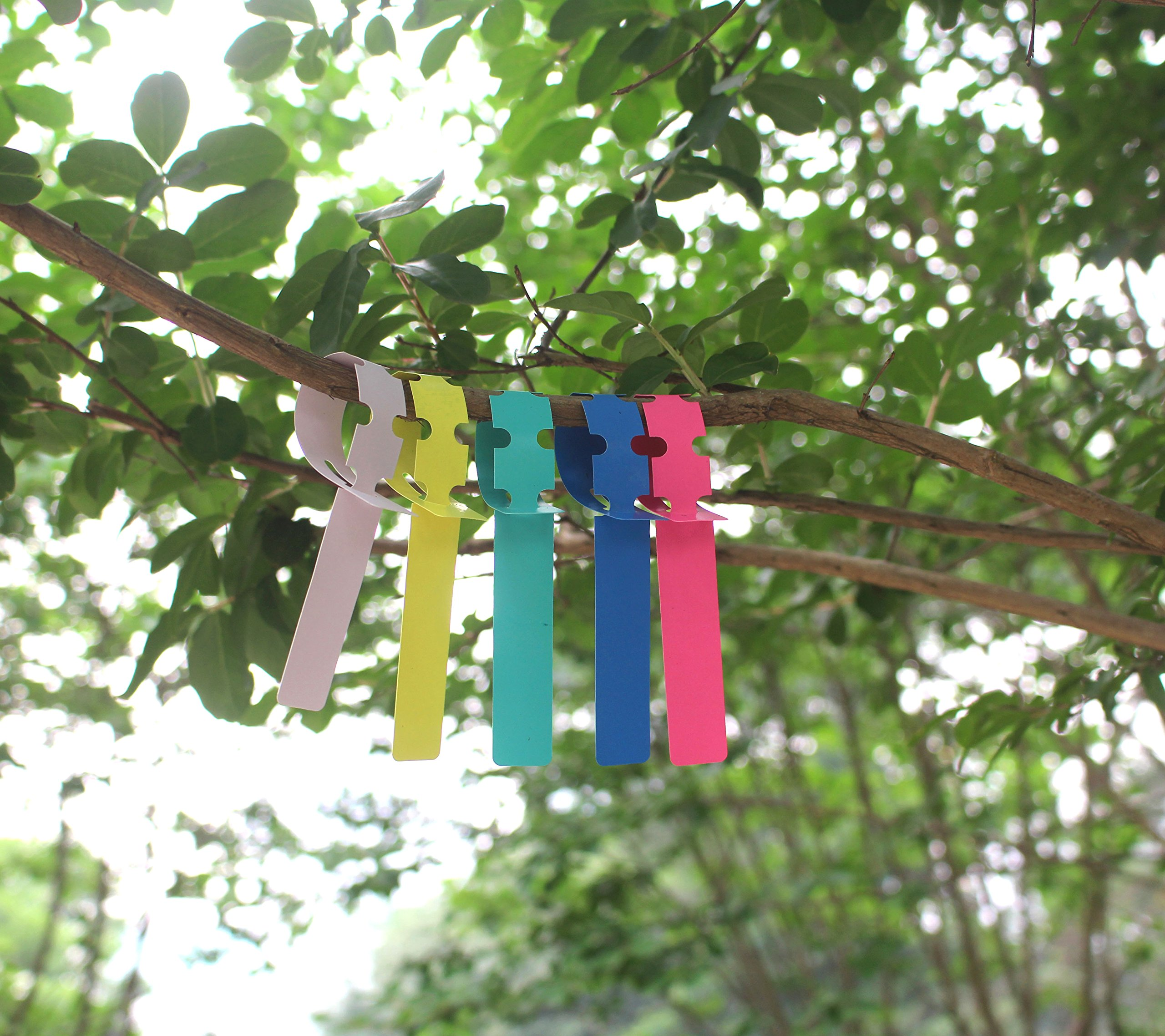 ColorYourLife 250 Pcs 2x20cm Plastic Plant Hanging Tree Tags Nursery Garden Labels Tags Wraps