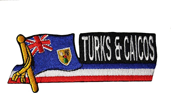 Turks and Caicos FLAG PATCH PATCHES BADGE IRON ON NEW EMBROIDERED