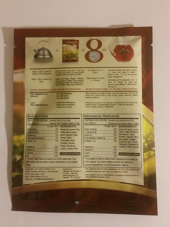 Amazon.com: Tea Divina - Vida Divina Detox Tea One Week Supply 1 ...