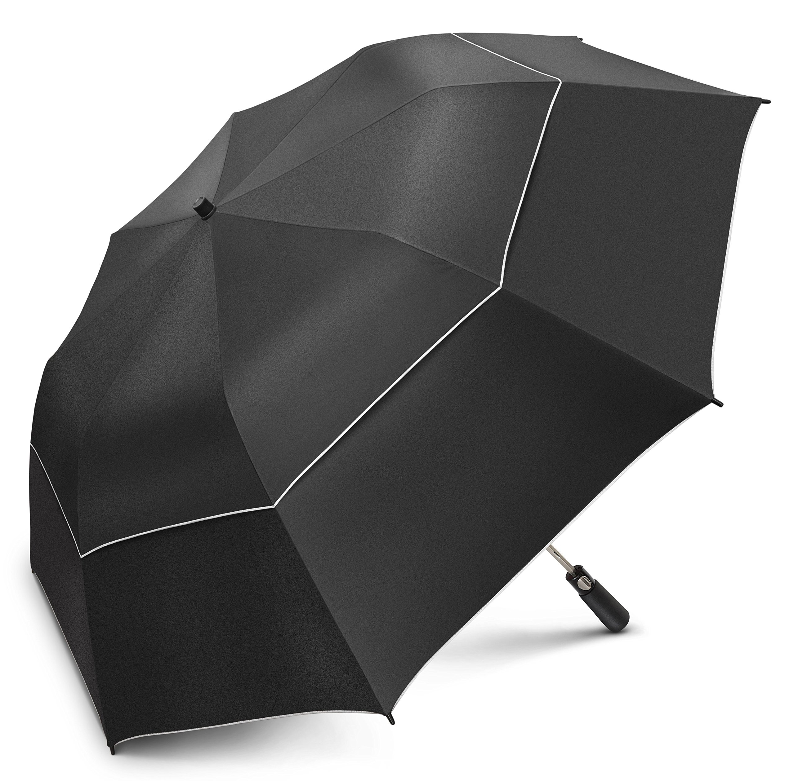 EEZ-Y 58 inch Compact Golf Umbrella UPF 50 Plus UV Protection - Large Windproof Double Canopy - Sun and Rain Umbrellas by EEZ-Y