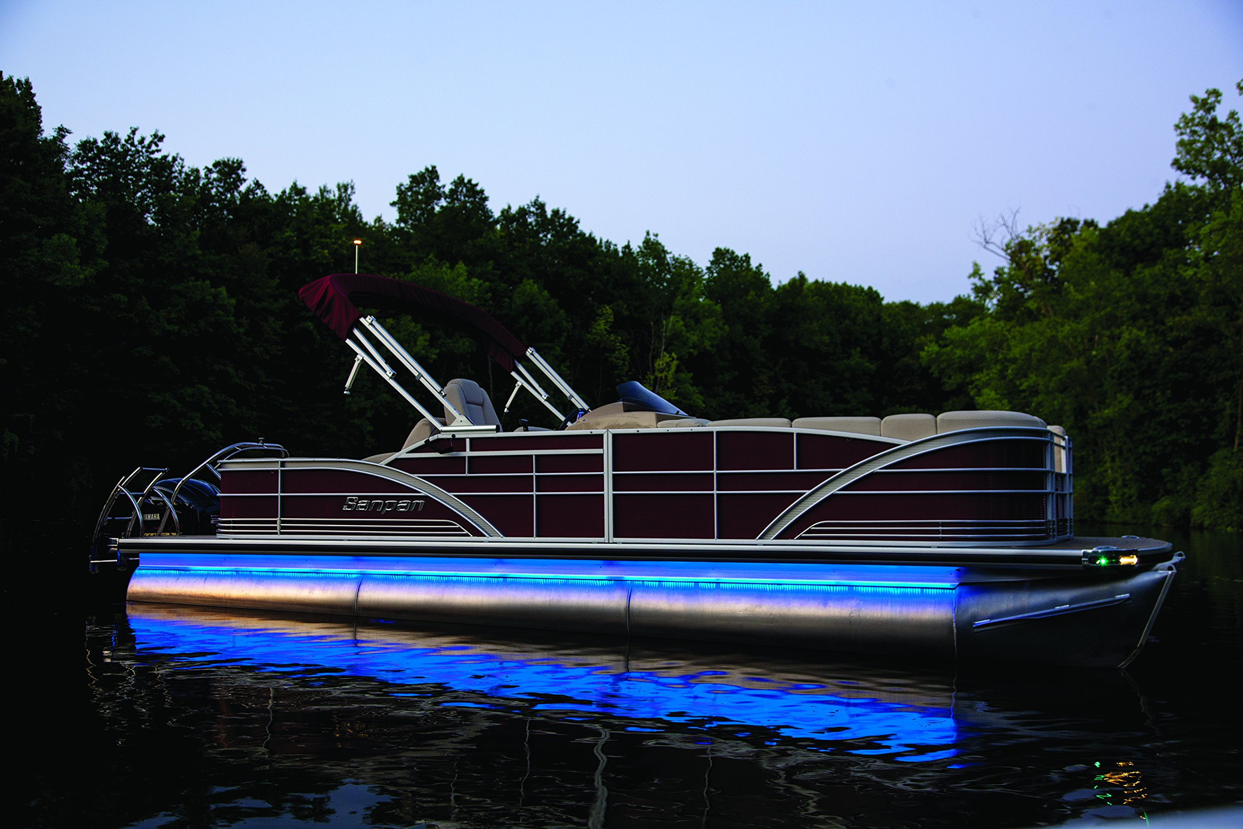PONTOON lighting kit - UNIVERSAL will fit any pontoon or boat - Remote Control - Color Selectable - Under Deck or Around the hull - Red Green Blue White Orange Purple more... by CH