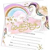 Olivia Samuel Unicorn Birthday Party Invitations