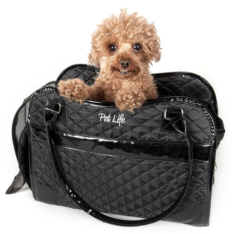 Black One Size Black One Size Exquisite' Handbag Fashion Pet Carrier, One Size, Black