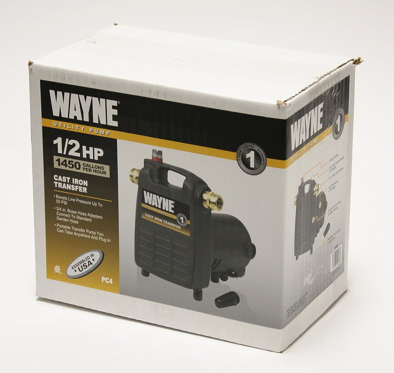 Wayne Pc4 1 2 Hp Cast Iron Multi Purpose Pump With Suction Strainer