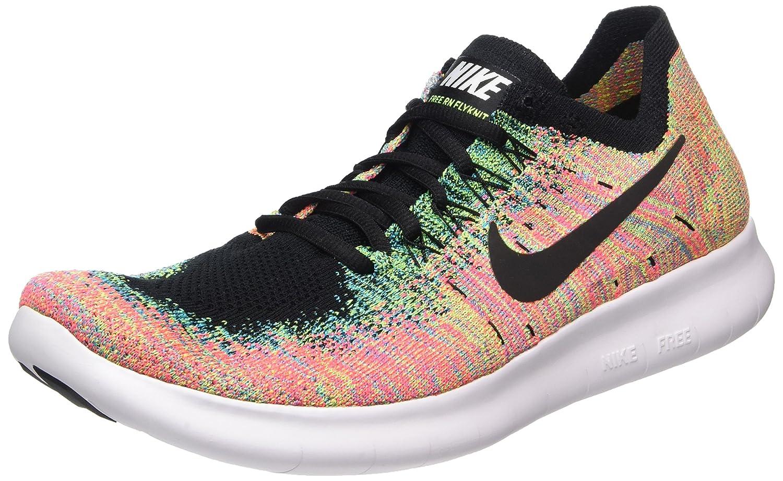 MultiColor (negro negro-azul Lagoon-hot Punch-volt) Nike Free RN Flyknit 2017, Hauszapatos de Running para Hombre