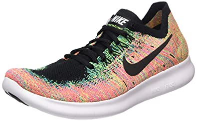 4c917549ef7 Nike Men s Free Rn Flyknit 2017 Running Shoes Multicolour Black-Blue  Lagoon-Hot Punch