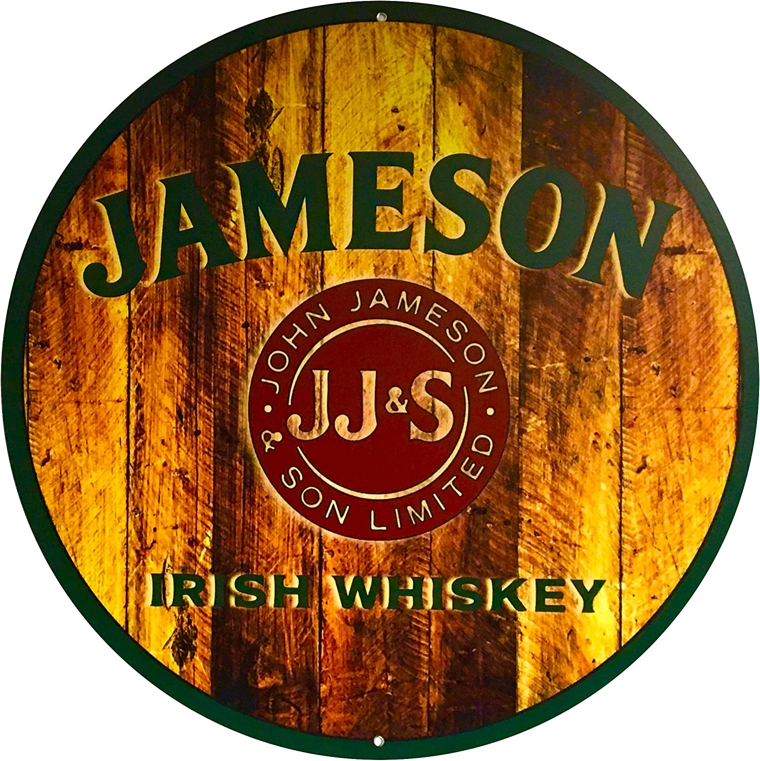Amazon.com: Jameson whisky barril parte superior redondo ...