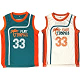 fe6c180a64c Jackie Moon #33 Flint Tropics Semi Pro Movie Retro Throwback Basketball  Jersey Embroidery S-