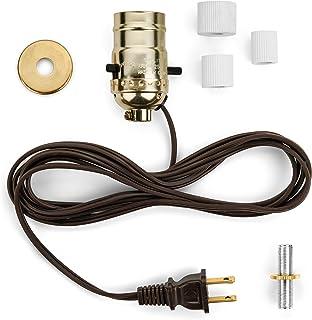 lamp base socket kit electrical wiring set to make repair and rh amazon com