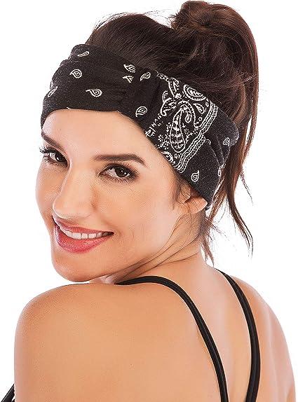 Super Wide Headbands Yoga Band 2 Headbands 4 To 4.5 Inches Snug Fit