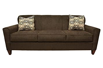 Amazon.com: Common Home CH0161 Reuben Sofa, Dark Brown ...