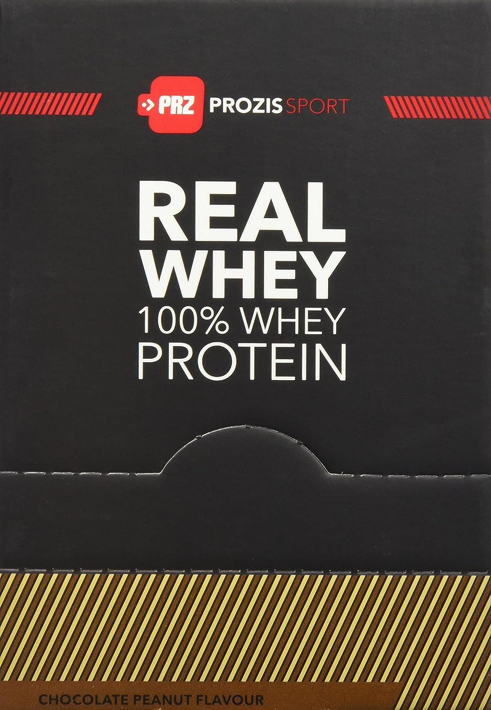 Prozis 100% Pure Real Whey Protein Powder 10x25g - Complemento Sabor Chocolate y Cacahuete Repleto con BCAA para un Máximo Crecimiento y una Máxima ...
