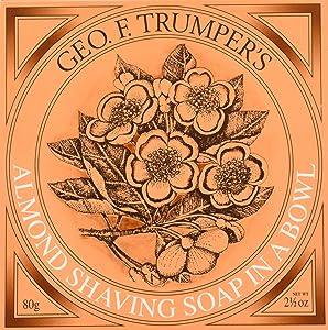 Geo F Trumper Wooden Shaving Bowl & Almond Shaving Soap by Geo F. Trumper