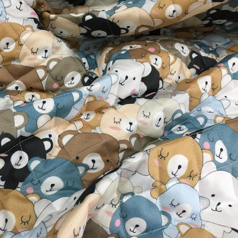 gigoteuses Panini Tessuti 2 unit/és = 100 cm couvertures Accessoires Tissu matelass/é pour enfants 1 unit/é = 50 cm linge Vendu au demi-m/ètre