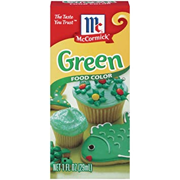 Amazon.com : McCormick Green Food Color, 1 fl oz : Grocery & Gourmet ...