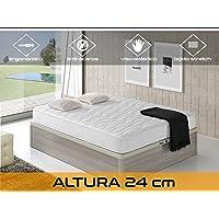 Relaxing-Confort Cloud 24 5.0 Colchón Visco Elástico, Algodón-Poliuretano, Blanco