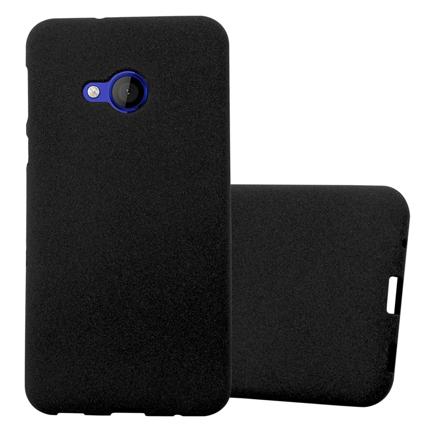 uk availability cfeb8 5bebd Cadorabo Case works with HTC U PLAY in FROST BLACK – Shockproof and Scratch  Resistant TPU Silicone Cover – Ultra Slim Protective Gel Shell Bumper ...