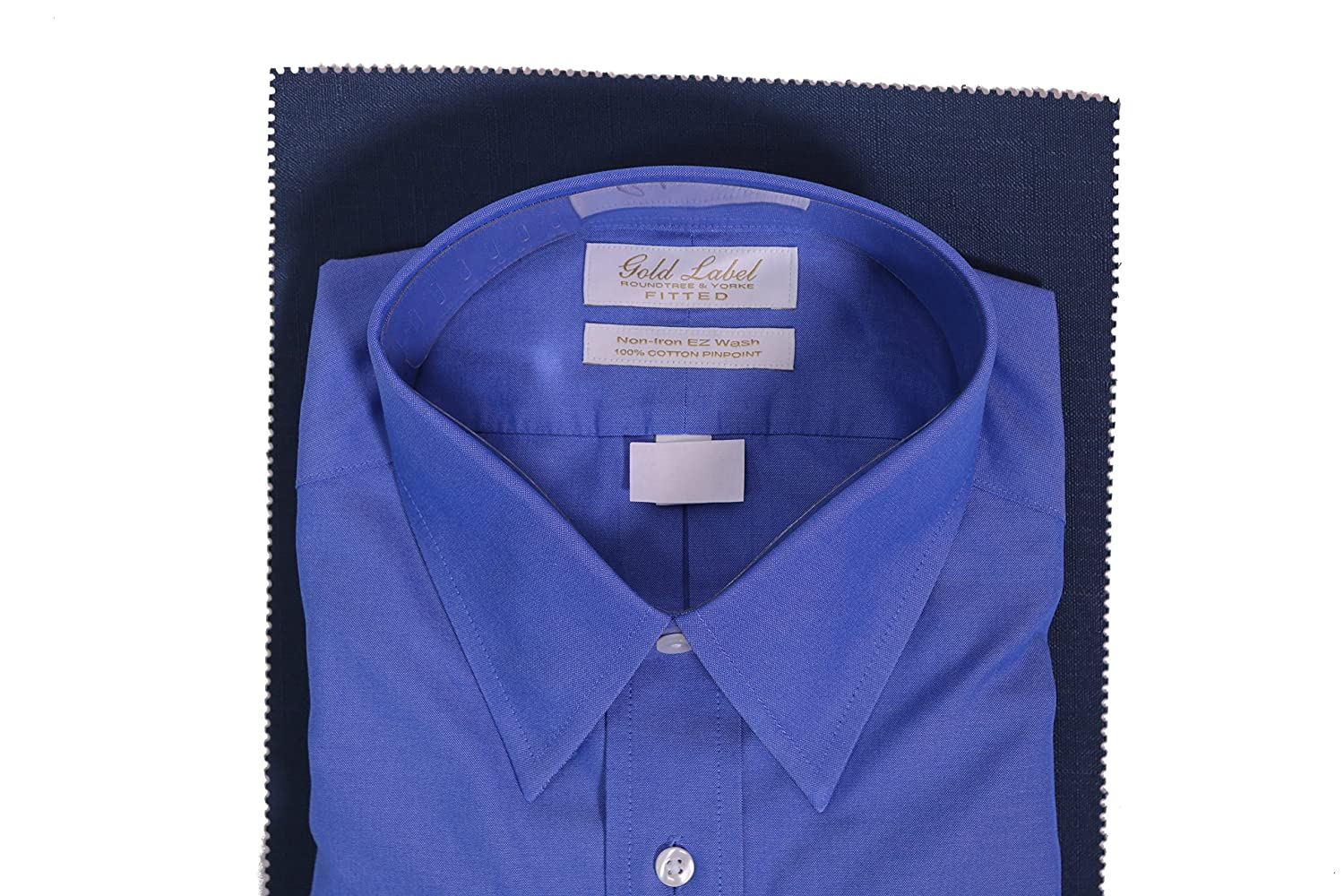 Gold Label Roundtree Yorke Solid Non Iron Fitted Classic Fit Point