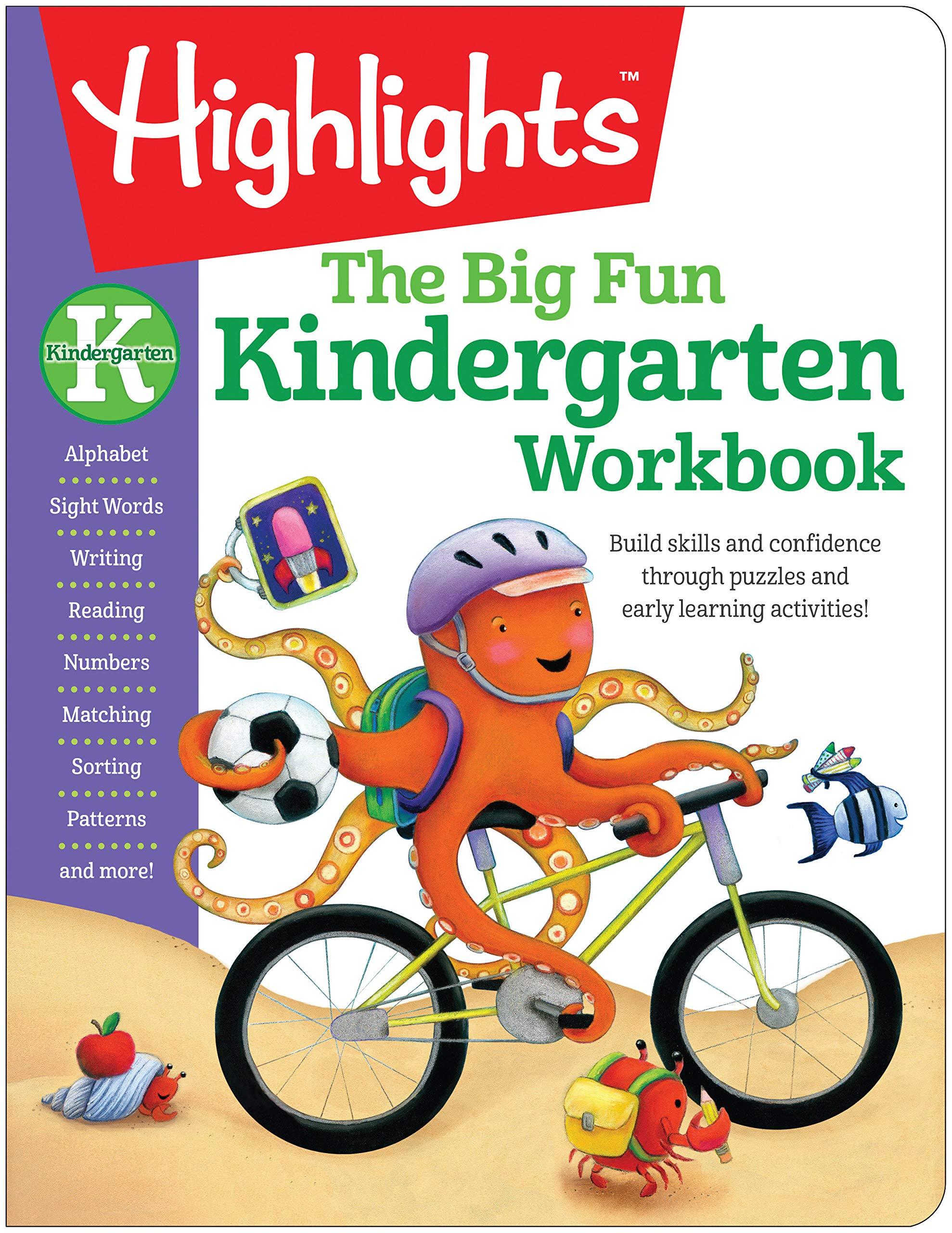 Amazoncom The Big Fun Kindergarten Workbook Highlights Big Fun