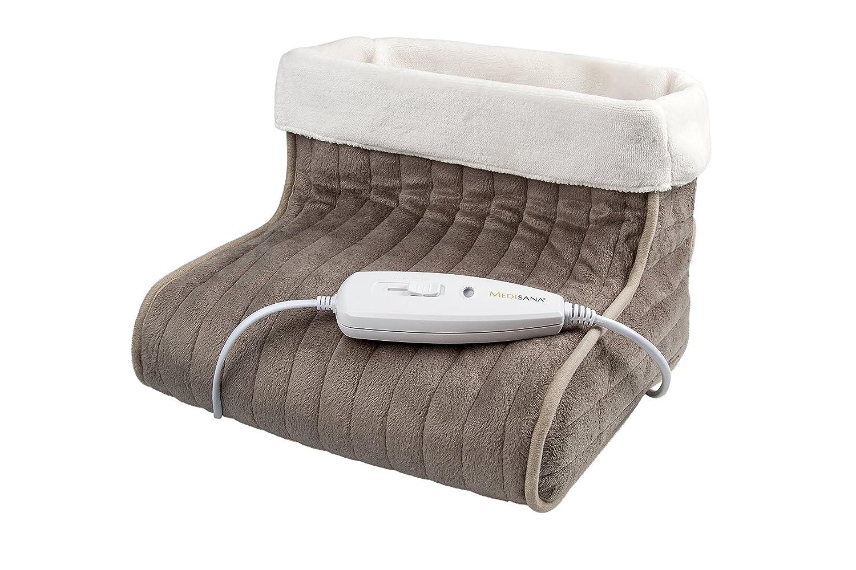 Medisana FWS Calientapiés con protección sobre el calentamiento color marron y blanco