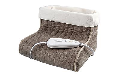 Medisana FWS - Calientapiés, con protección sobre el calentamiento, color marron y blanco