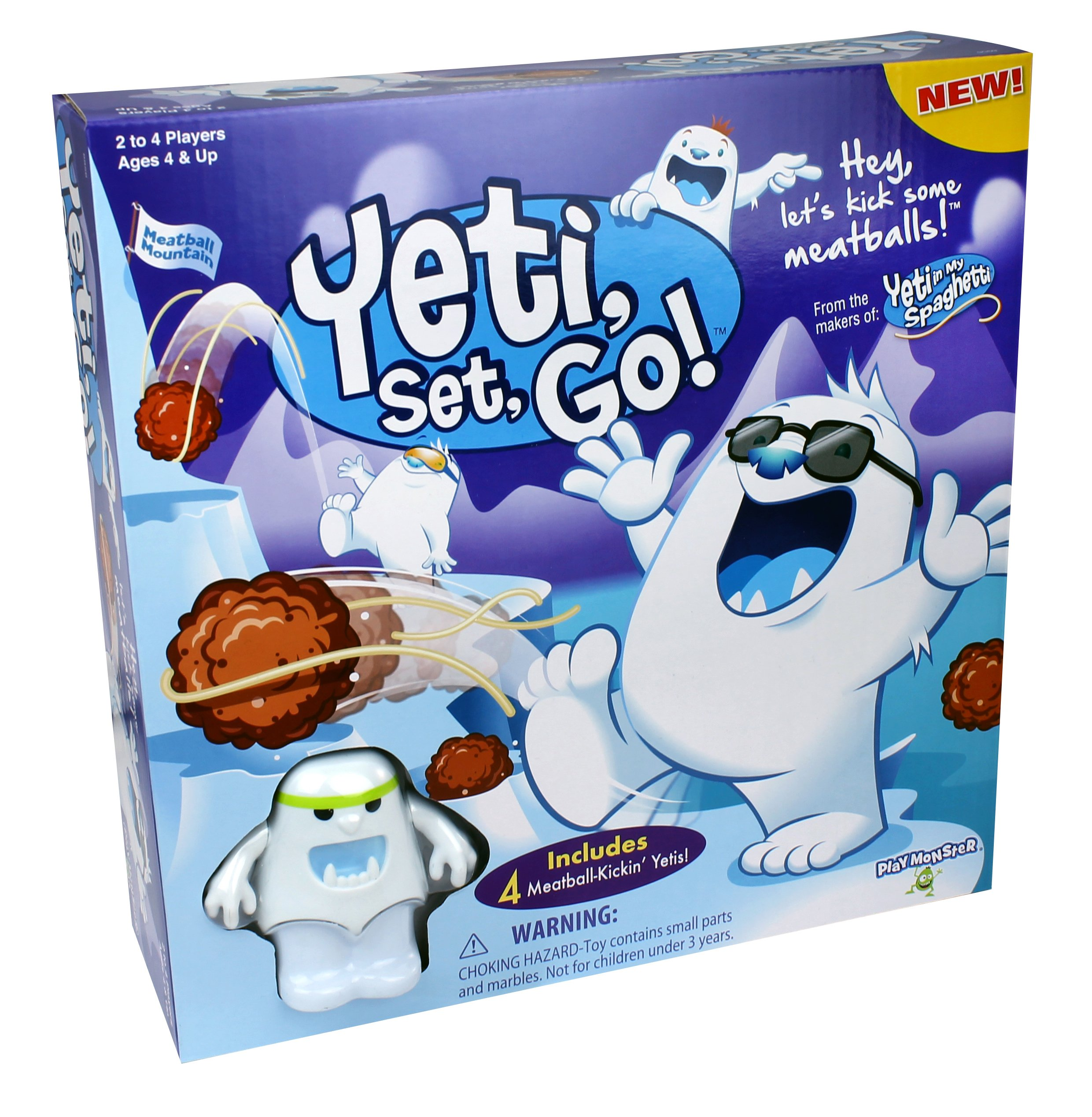 Yeti, Set, Go! Game - Hey, Let's Kick Some Meatballs!
