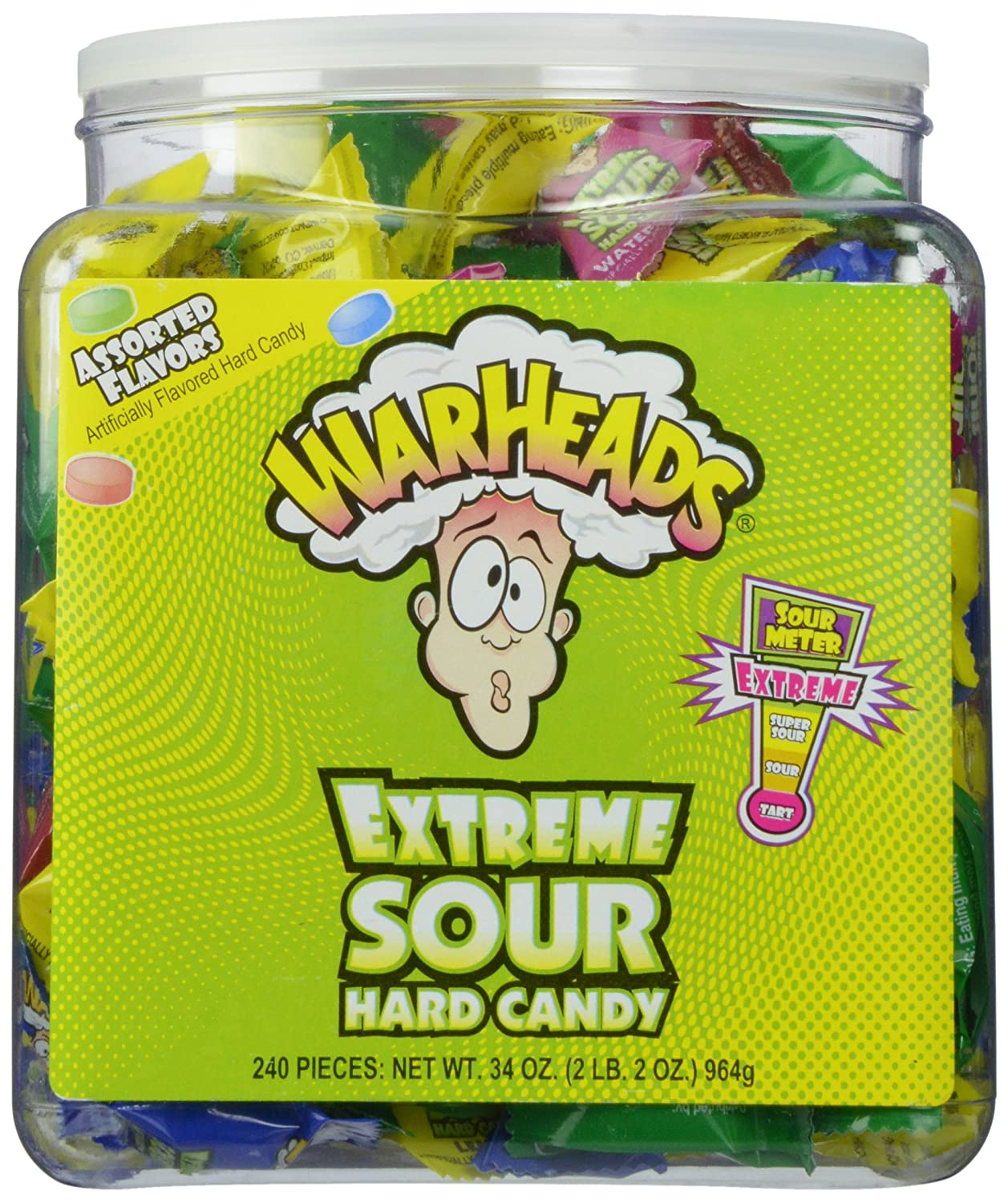 Warheads Extreme Sour Hard Candy (Pack of 240): Grocery & Gourmet Food