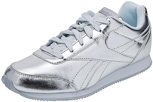 Reebok Royal Cljog 2, Zapatillas de Trail Running para Mujer, Plateado (Silver Metallic/White 000), 36 EU