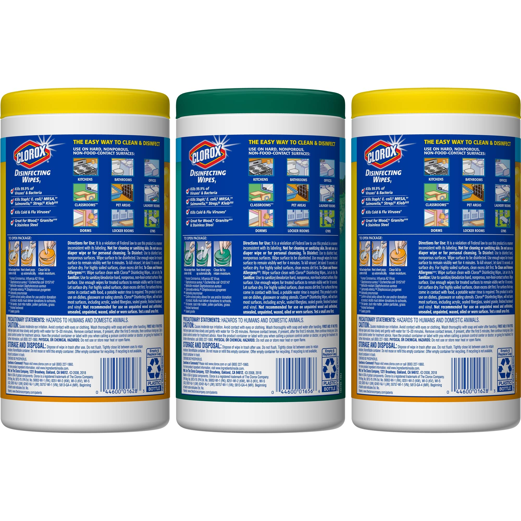 Clorox Disinfecting Wipes Value Pack, Bleach Free Cleaning Wipes - 75 Count Each (Pack of 3) (.5 Pack(225 Count)) by Clorox (Image #4)