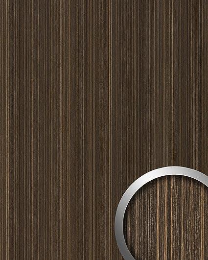 Panel decorativo aspecto madera WallFace 19027 WENGE WOOD decoración de madera tacto natural revestimiento mural autoadhesivo