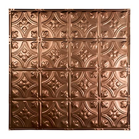 Great Lakes Tin Hamilton Vintage Bronze Nail-Up Ceiling Tiles – Package of Five 2ft x 2ft Panels – Choose from 11 Styles – Perfect for DIY and Home Renovation Projects – Easy to Install