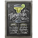 MyGift Barnwood Gray Washed Wood Framed Erasable Chalkboard Sign, Wall Mounted Memo Board - 32 X 24