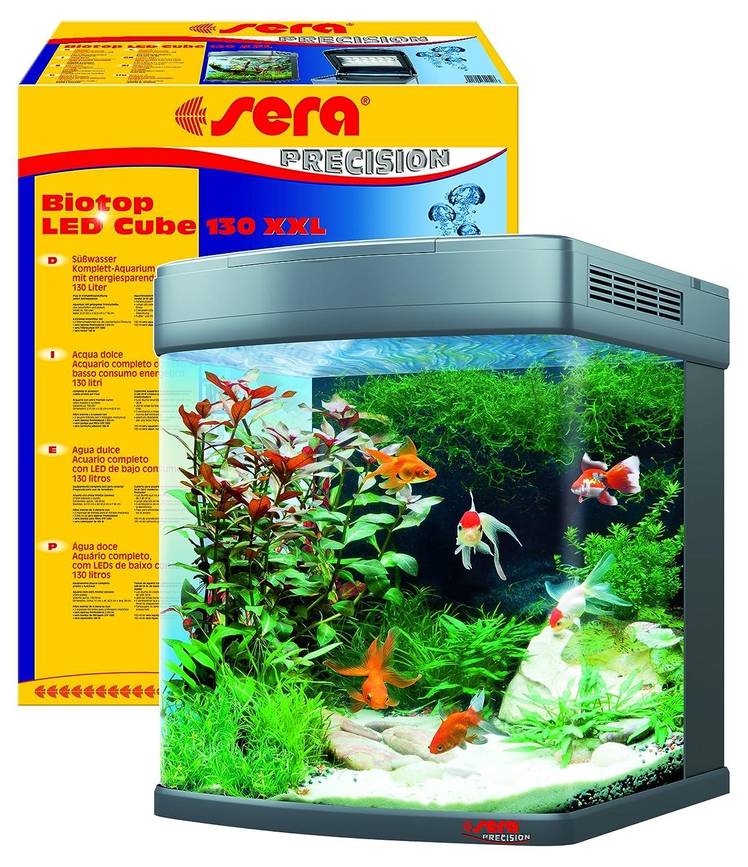 forma unica Sera 31152 Biotop - Acquario Completo con con con Illuminazione a LED e filtraggio, 130 l, Misura XXL  fino al 50% di sconto