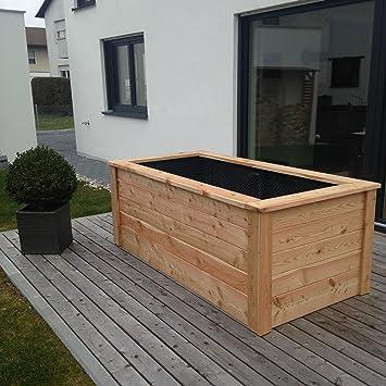 Casa Mina Hochbeet Krauterbeet Aus Larchenholz 200 X 100 X 80 Cm