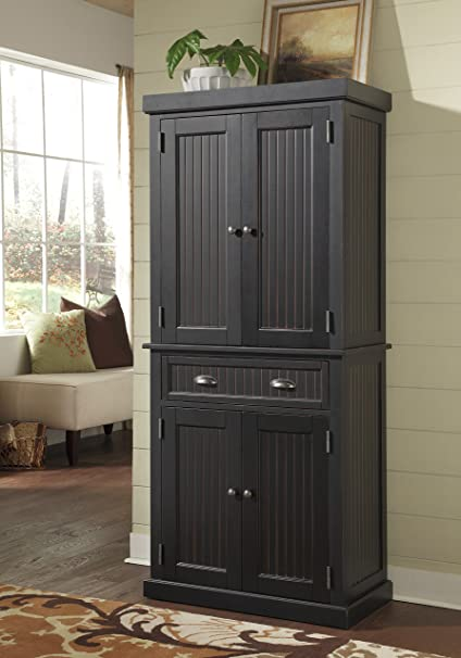Home Styles 5033 69 Nantucket Pantry, Distressed Black Finish