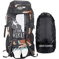 POLESTAR XPLORE 55 ltrs with Rain Cover Rucksack/Hiking/Trekking Backpack Bag 55 ltrs (camo Black)