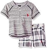 U.S. Polo Assn. Baby Boy's Tank and Short Set