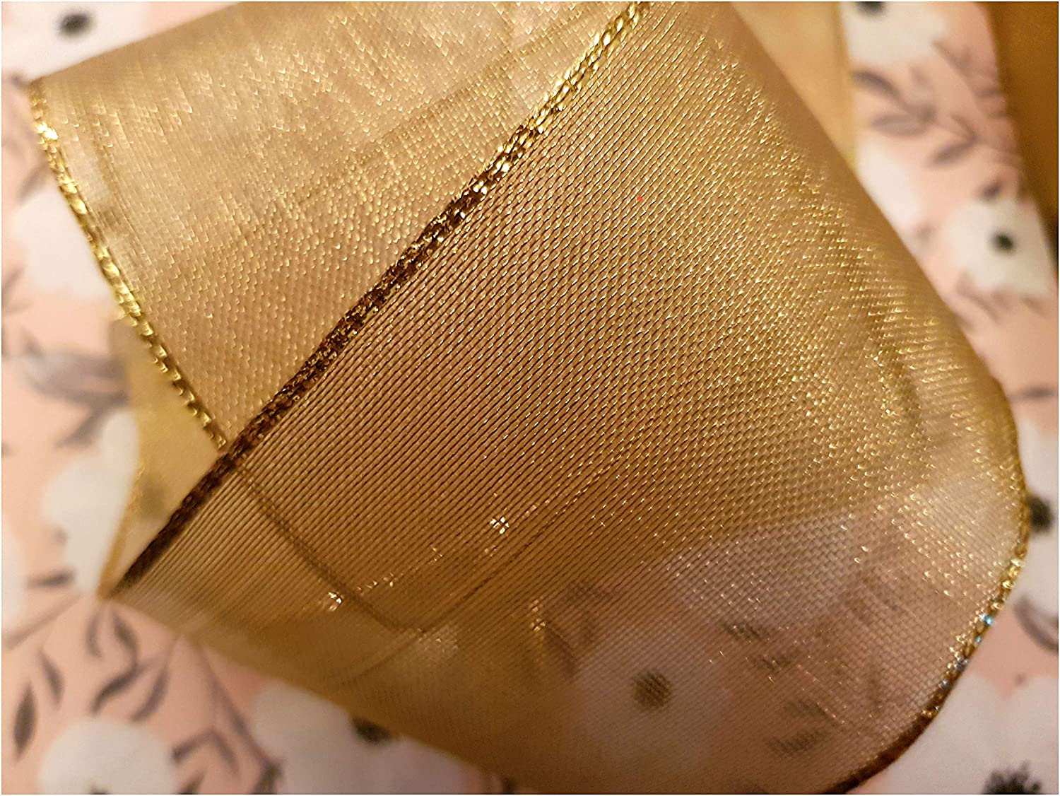 Luxury Wire Edge Ribbon **LAST STOCK** ALL THAT GLITTERS IS GOLD heavy weight