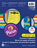 Pacon Premium Tagboard Paper, 50-Count, Brights Assorted, 10 Colors (101164)