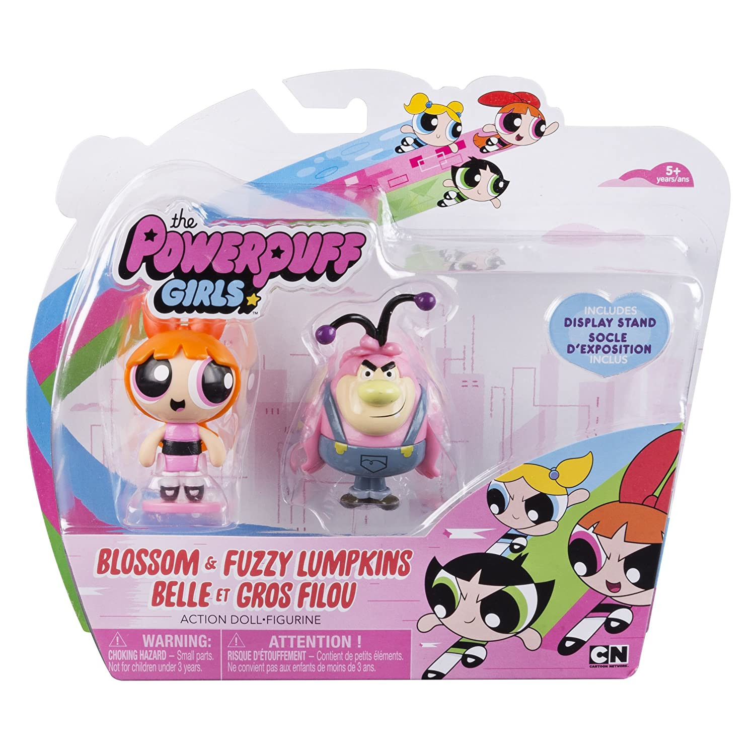 2 inch Action Dolls with Display Stands Blossom /& Fuzzy Lumpkins Spin Master 20073409 2-Pack The Powerpuff Girls