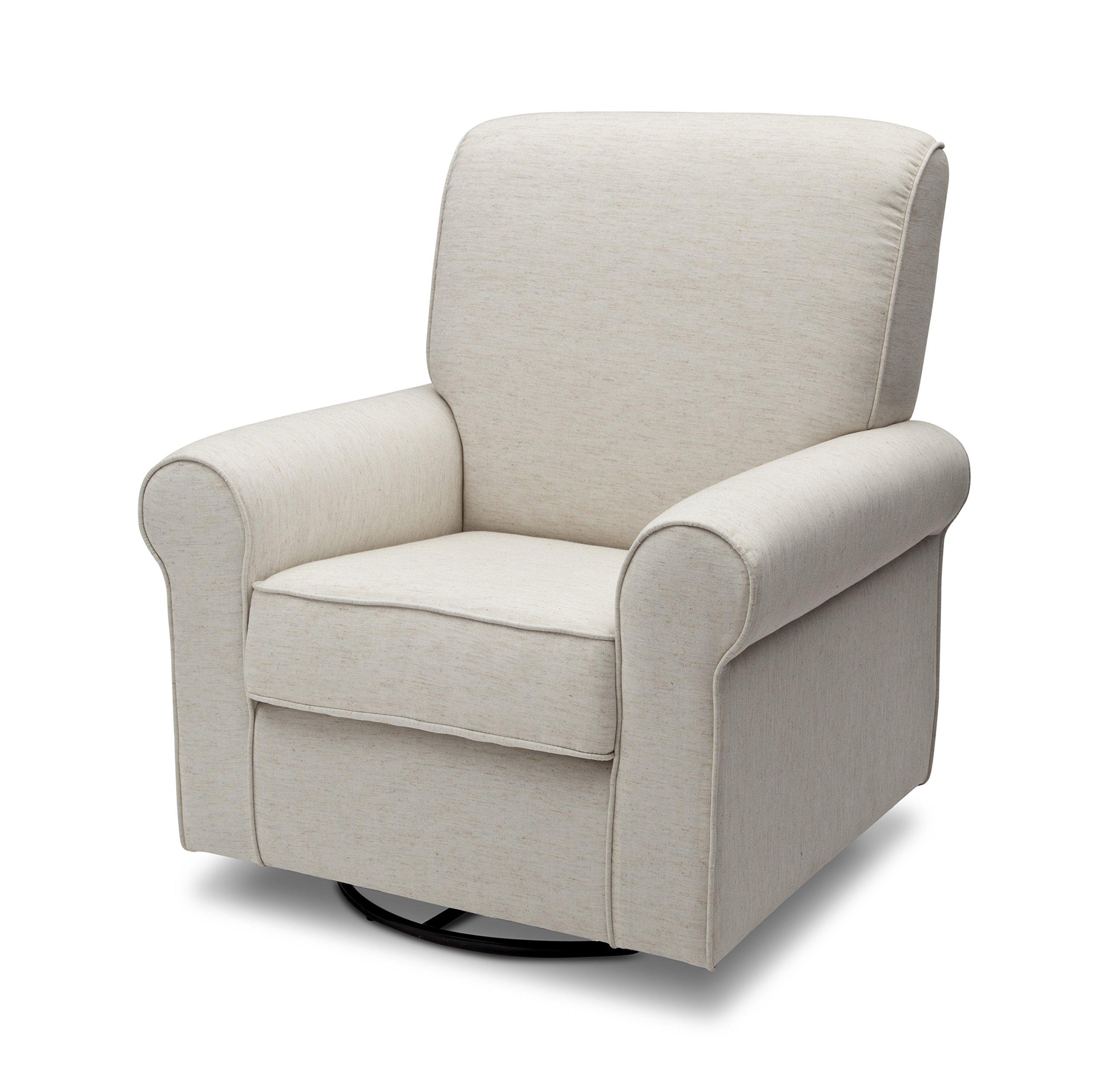 Delta Furniture Avery Upholstered Glider Swivel Rocker Chair, Sand