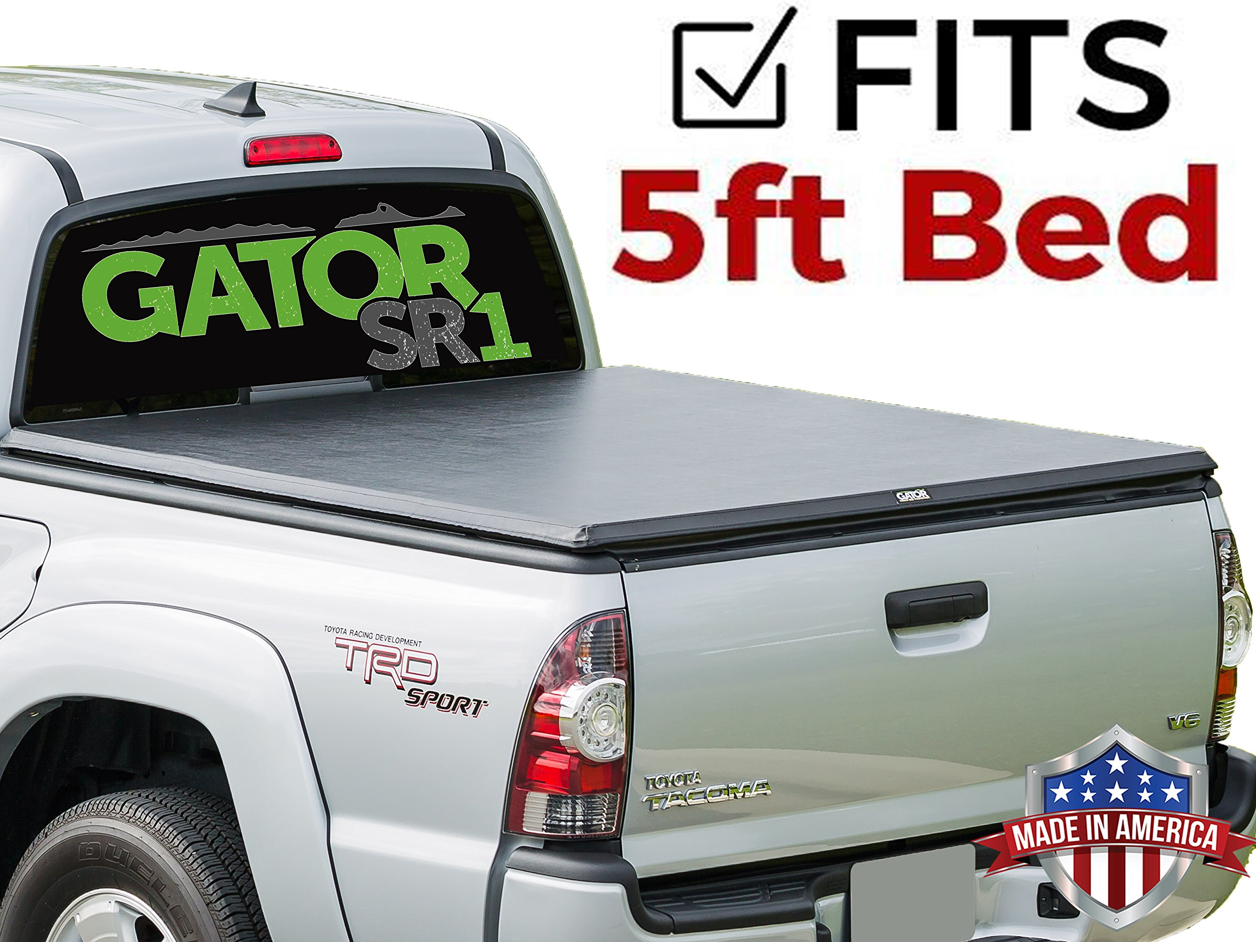 a1c6e7ab43b Gator SR1 Roll-Up (fits) 2005-2015 Toyota Tacoma 5 FT Bed Only Soft Roll Up  Tonneau Truck Bed Cover ...