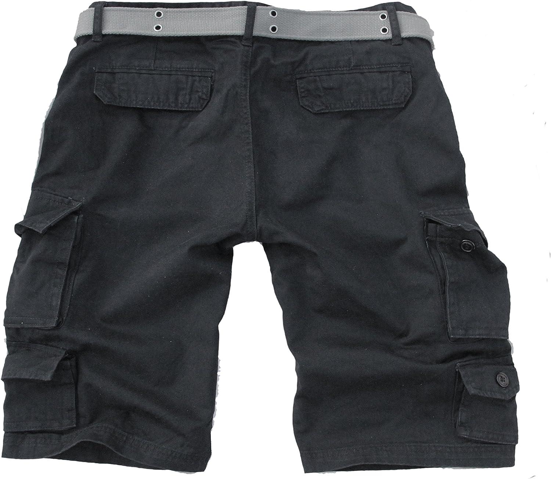 Fun Coolo Pantaloncini Corti Bermuda Cargo Short con tasconi Laterali con Cintura