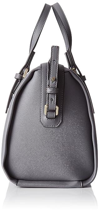 Damen Marissa Duffle, 002, Os Stofftasche, Grau (Steel Grey), 17x32x26 cm Calvin Klein
