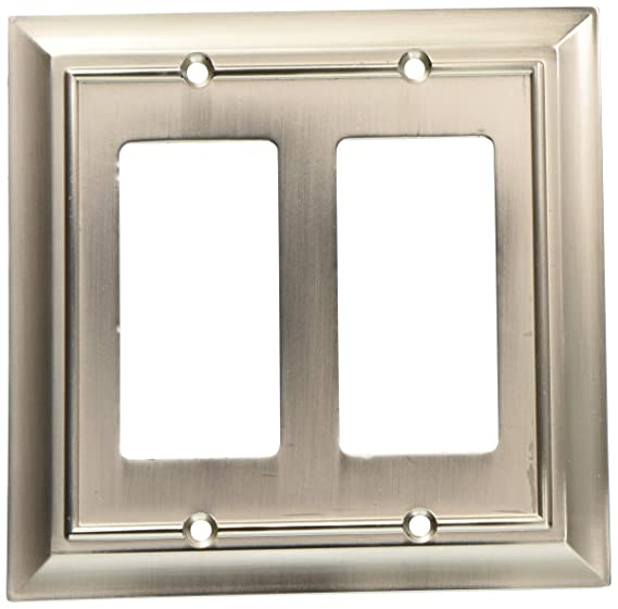 Brainerd 64237 Architectural Double Decorator Wall Plate / Switch Plate / Cover - Outlet Plates - Amazon.com